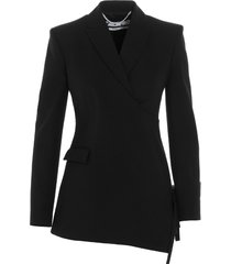 off-white strings panel blazer
