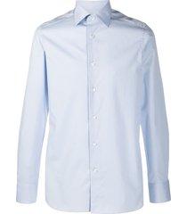 ermenegildo zegna formal cotton shirt - blue