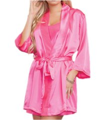 icollection women's ultra soft satin lounge and poolside robe