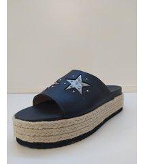 sandalia negra pazos shoes gala