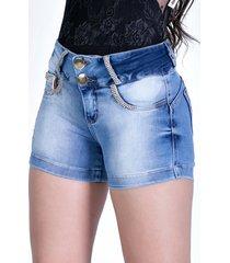 shorts zigma levanta bumbum com bojo azul