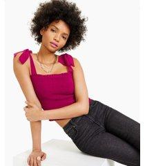 bar iii smocked sleeveless top, created for macy's