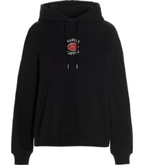markus lupfer carla embroidered lip hoodie