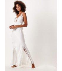 camisola joge longa off-white - off-white - feminino - dafiti