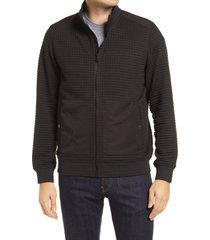 men's bugatchi performance waffle knit zip jacket