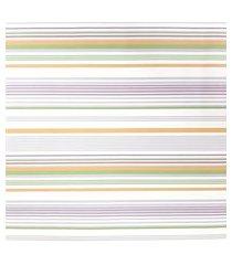kit 3 rolos papel de parede fwb listras laranja verde lilás e branco