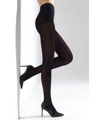 natori velvet touch tights, women's, microfiber, size s/m