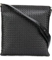 bottega veneta structured shoulder bag - black