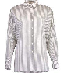 monili trim pinstripe tunic shirt