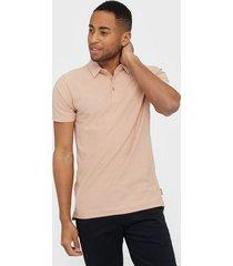 only & sons onsilkas slim ss polo noos t-shirts & linnen ljus rosa