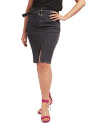 guess casual denim knee-length skirt