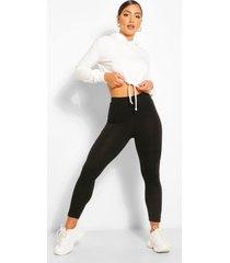 basic high waist ankle grazer legging, black