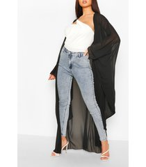 oversized maxi kimono, black