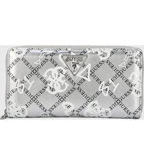 billetera plateado-blanco-negro guess