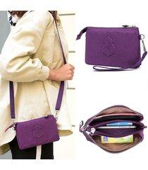 donne nylon frizione multifunzione impermeabile borsa telefono borsa spalla borsa