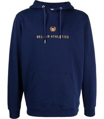 bel-air athletics logo-embroidered cotton hoodie