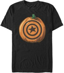marvel men's captain america shield pumpkin short sleeve t-shirt