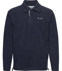 dallas fleece rugby sweatshirt sweat-shirts & hoodies fleeces & midlayers blå les deux