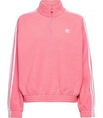 adicolor classics polar fleece half-zip sweatshirt w sweat-shirts & hoodies fleeces & midlayers rosa adidas originals
