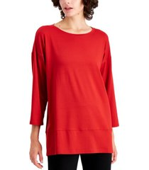 plus size eileen fisher bracelet-sleeve top