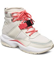 zeatrk nylon hl t-g9 shoes boots ankle boots ankle boot - flat creme arkk copenhagen