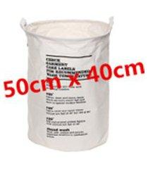 linho de algodão à prova d 'água dobrável saco de lavanderia cesto de roupa suja de armazenamento organizador de cesta 40x50 cm wongkuba