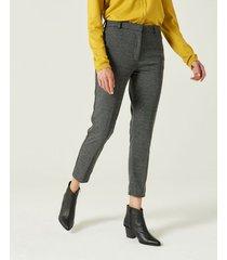 pantalón gris portsaid tramado slim minujin