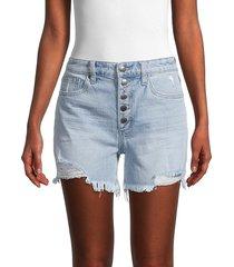 joe's jeans women's morden denim shorts - morden - size 27 (4)