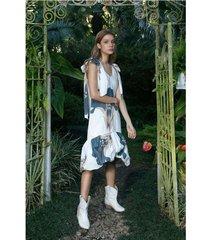 vestido de mujer, midi con estampados maxi florales