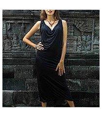 maxi dress, 'kuta ebony' (indonesia)