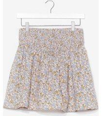 womens summer lovin' floral mini skirt - cream
