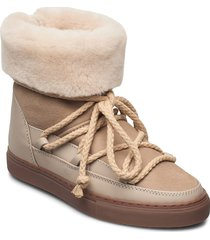 inuikii sneaker classic high shoes boots ankle boots ankle boot - flat beige inuikii