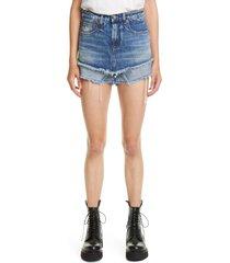 women's r13 double layer cutoff denim shorts