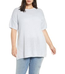plus size women's eileen fisher crewneck tunic top