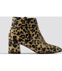 trendyol leo printed boots - brown,beige,multicolor
