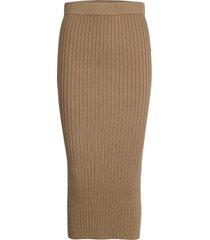 enmichael skirt 5239 knälång kjol beige envii