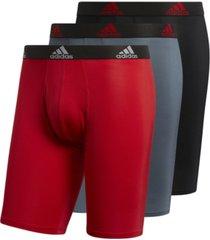 adidas men's 3-pk. performance long boxer briefs