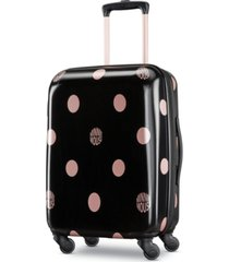 "american tourister minnie mouse dots 21"" carry-on spinner suitcase"