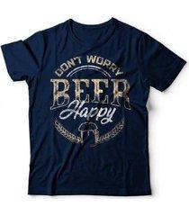 camiseta beer happy - unissex