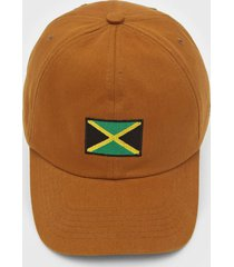 bonã© kanui dad cap jamaica flag caramelo - caramelo - dafiti