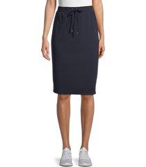 tommy hilfiger women's tie-waist pencil skirt - midnight - size s