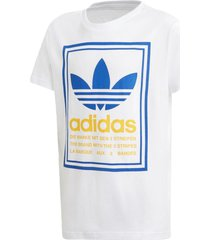 camiseta manga curta adidas graphic tee branco - branco - dafiti