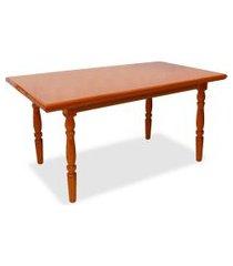 mesa de jantar retangular campestre mel 125 cm