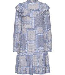malva dress knälång klänning blå by malina