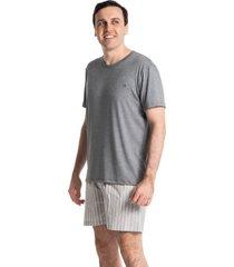 pijama masculino curto listrado antônio