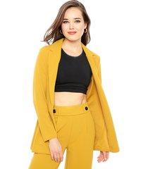 blazer jacqueline de yong geggo amarillo - calce regular