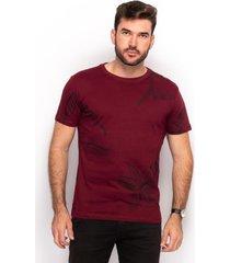 camiseta t shirt algodão teodoro masculino floral slim