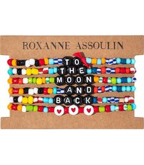 roxanne assoulin to the moon and back camp bracelets - black