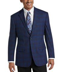 pronto uomo platinum modern fit sport coat navy plaid