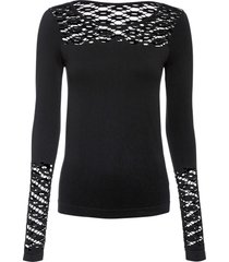 maglia con cut-out (nero) - bodyflirt boutique